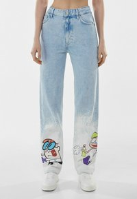 Bershka - Straight leg jeans - light blue - 0