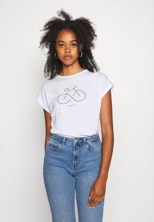 VISBY BIKETERNITY - Print T-shirt - white