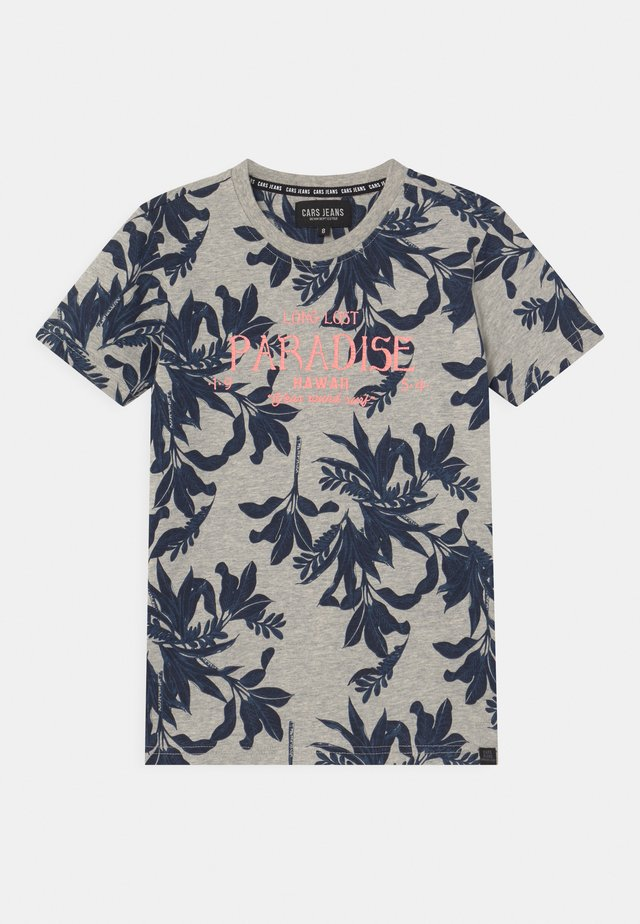 BOSSO - T-shirt con stampa - navy