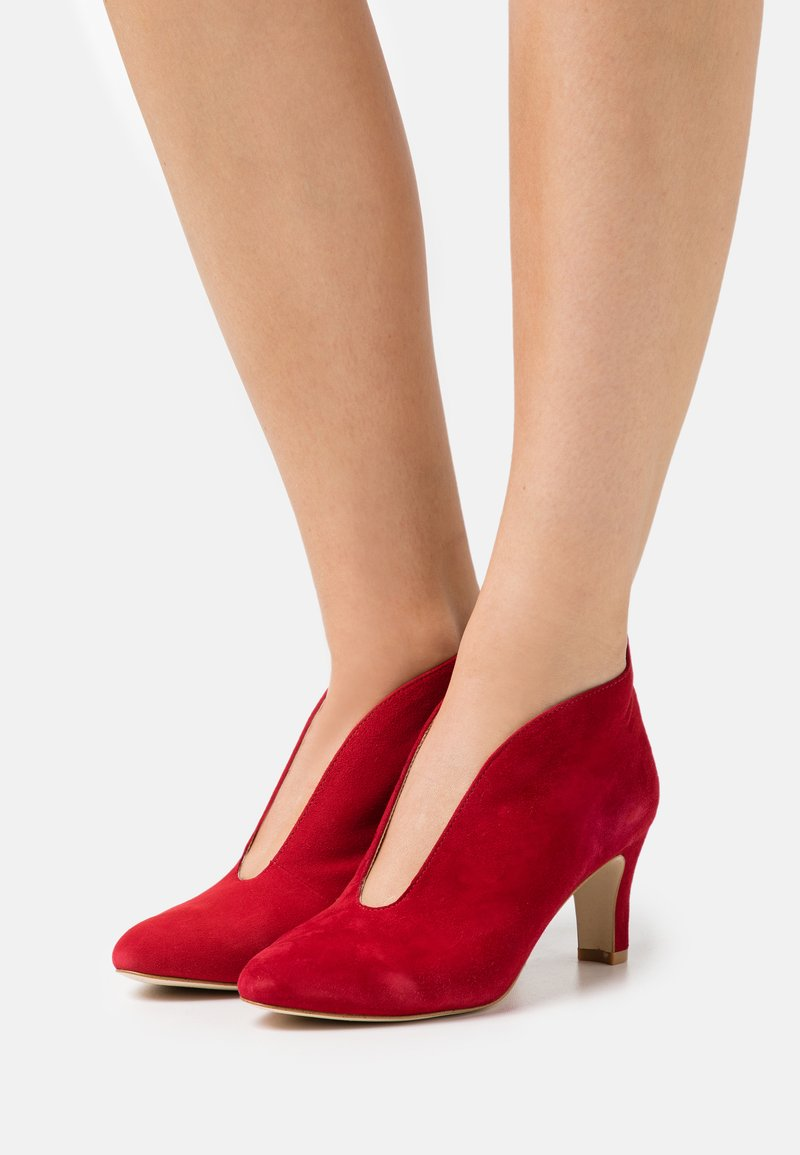 Anna Field - LEATHER - Ankle boots - red