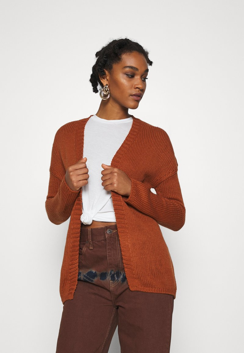 ONLY - ONLLEXI CARDIGAN - Cardigan - ginger bread