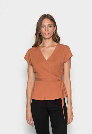 BELTED WRAP - Top - pink sand dune
