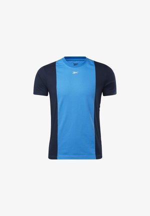 TRAINING ESSENTIALS LINEAR LOGO T-SHIRT - T-shirt print - blue