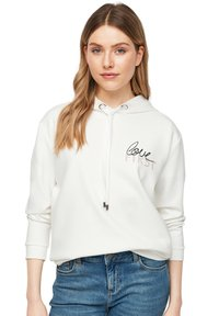 comma - Hoodie - white placed print - 2
