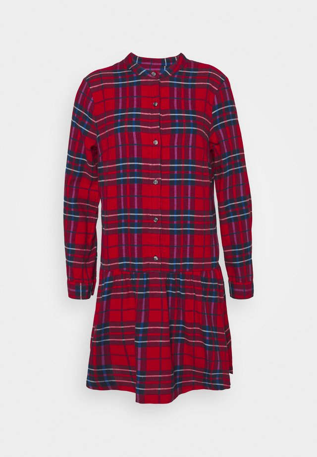 Abito a camicia - red plaid