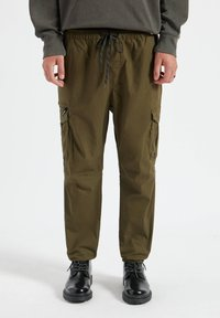 PULL&BEAR - Cargo trousers - dark green - 0
