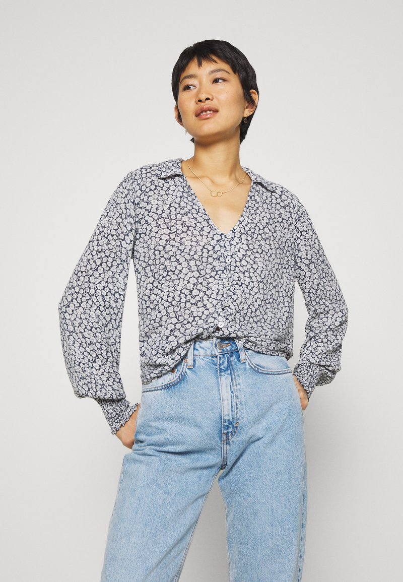Abercrombie & Fitch - Button-down blouse - navy