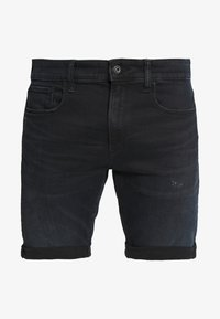 3301 SLIM  - Shorts di jeans - rink superstretch worn in night destroyed