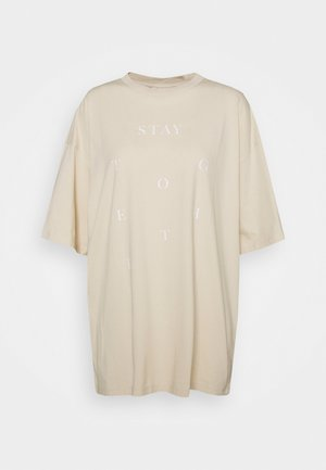 CISSI TEE - T-shirt med print - beige dusty light