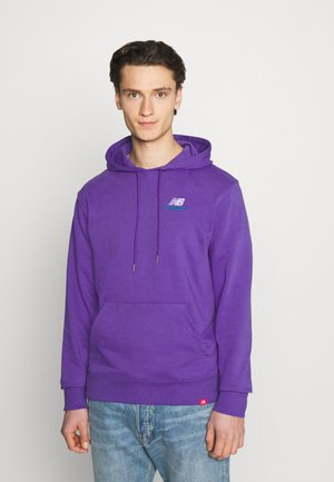 ESSENTIALS EMBROIDERED HOODIE - Sweatshirt - prism purple