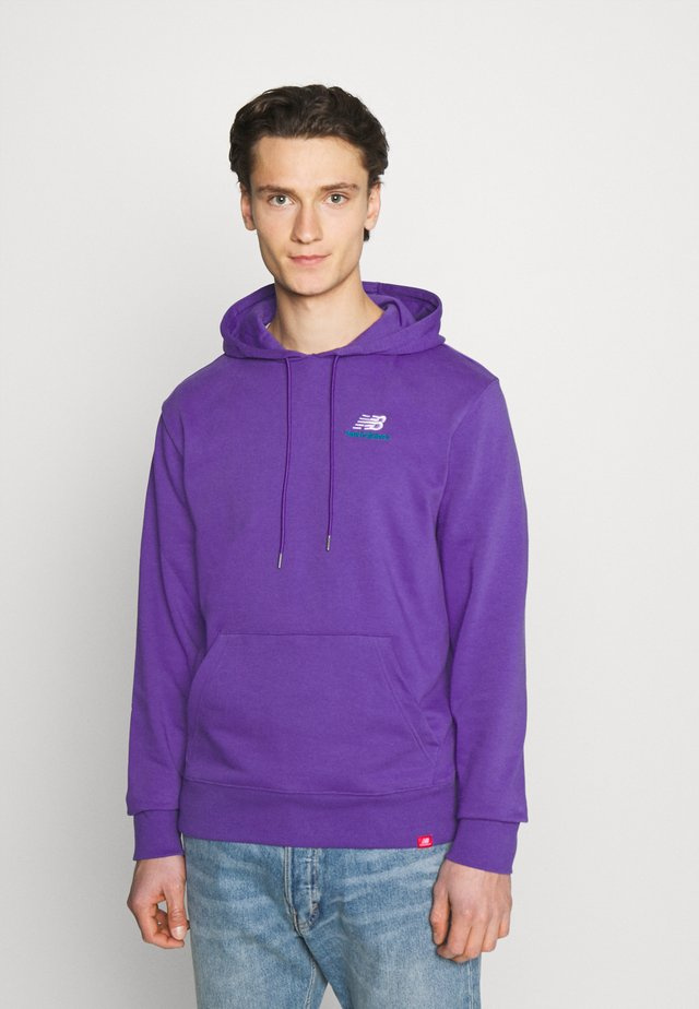 ESSENTIALS EMBROIDERED HOODIE - Sweatshirt - prism purple