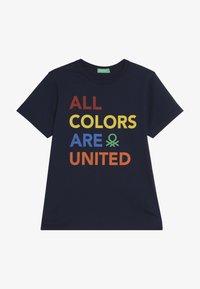 Benetton - Camiseta estampada - dark blue - 3