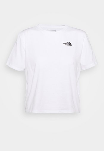 FOUNDATION CROP TEE - T-shirts - white