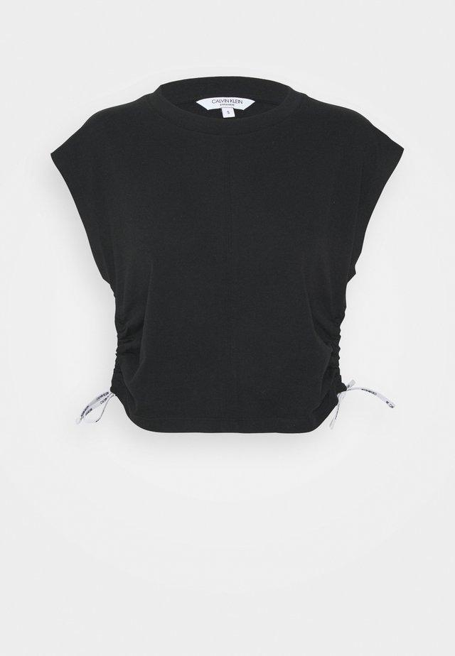 LOGO TIES - Pyjamashirt - black