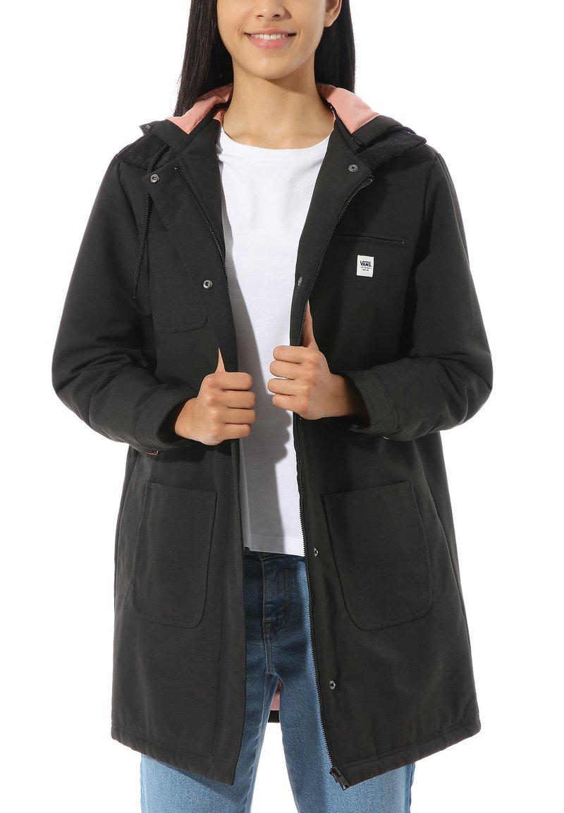 Vans - WM DRILL LONG CHORE COAT MTE - Classic coat - black