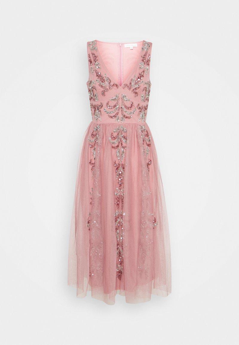 Maya Deluxe - V NECK EMBELLISHED DRESS - Robe de soirée - heather rose