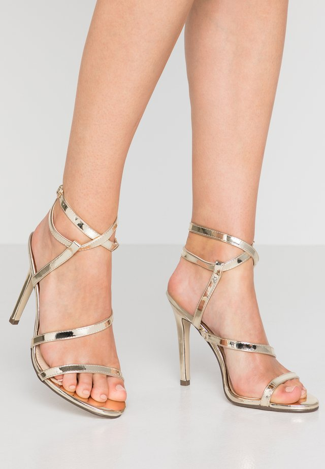 AIMEE - High heeled sandals - gold