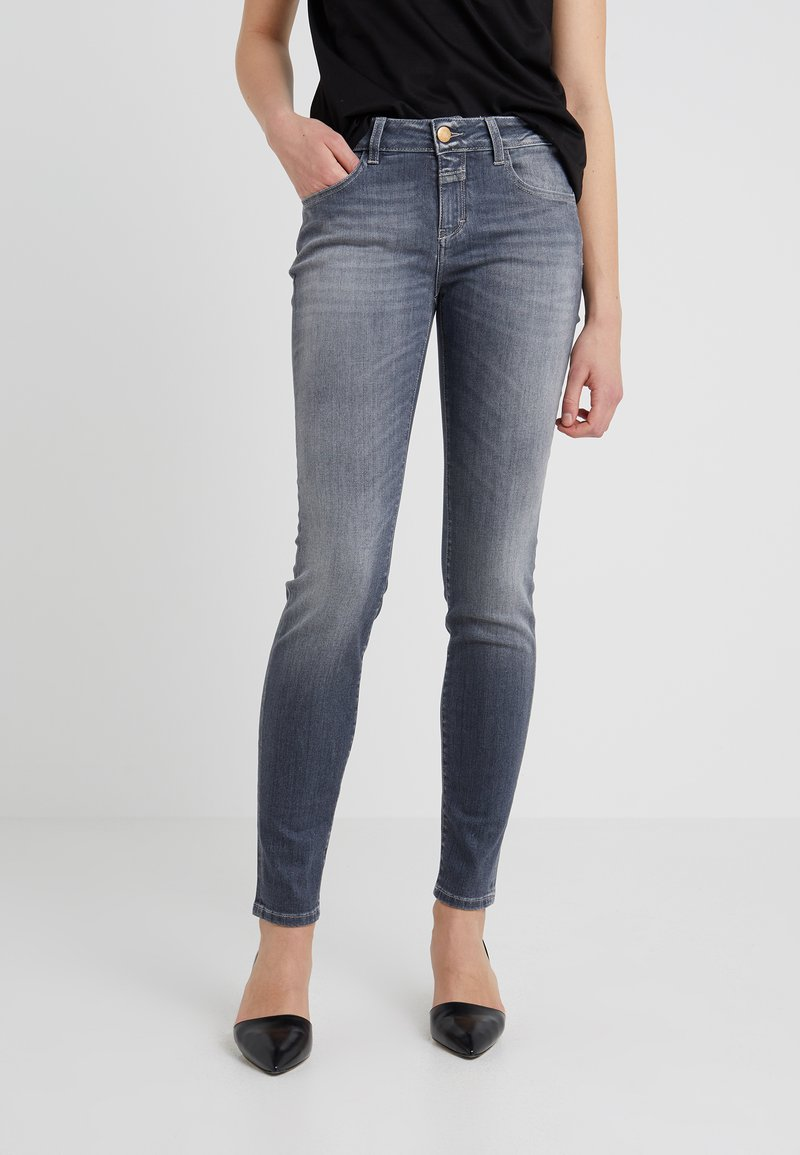 CLOSED - BAKER LONG - Jeansy Slim Fit - mid grey