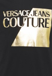 Versace Jeans Couture - SLIM BIG FOIL - Triko spotiskem - black - 6