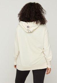 Active by Zizzi - Zip-up hoodie - beige - 2