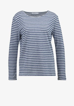 NOBEL STRIPE - Long sleeved top - white/blue