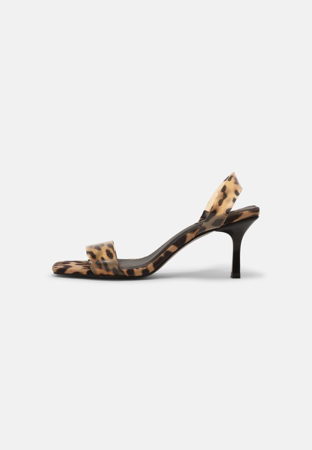 Sandały - leopard