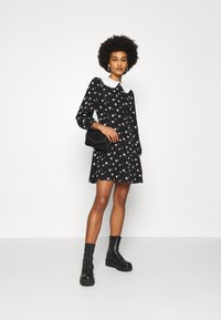 New Look - SADIE STAR COLLAR WAIS - Day dress - black - 1