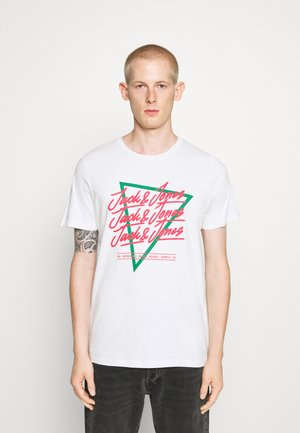 JORCODY TEE CREW NECK - T-shirts print - cloud dancer