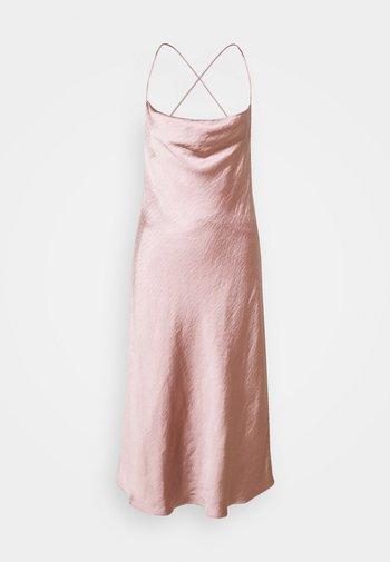 CROSS BACK COWL BIAS SLIP - Cocktail dress / Party dress - rose