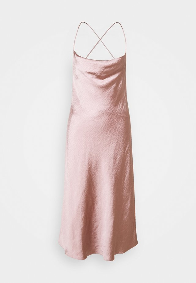 CROSS BACK COWL BIAS SLIP - Cocktail dress / Party dress - rose