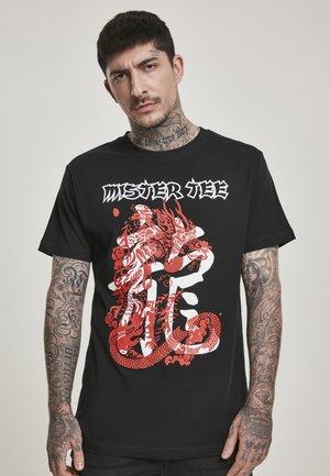 DRAGON - T-shirt imprimé - black
