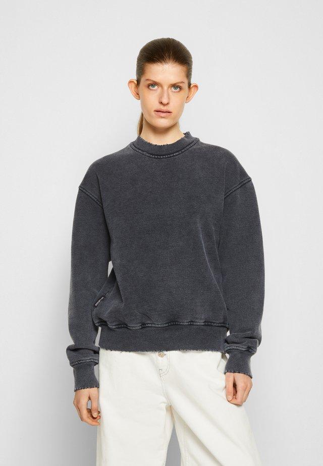 DISTRESSED CREW - Sweatshirt - dark grey