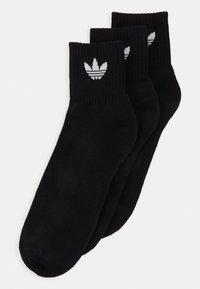 adidas Originals - MID ANKLE 3 PACK - Socks - black - 0