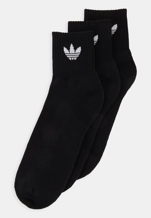 MID ANKLE 3 PACK - Socks - black
