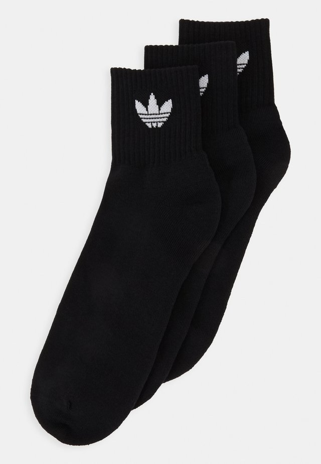 MID ANKLE 3 PACK - Calcetines - black