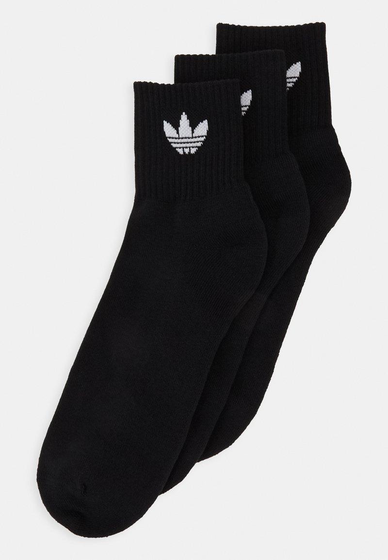 adidas Originals - MID ANKLE 3 PACK - Socks - black