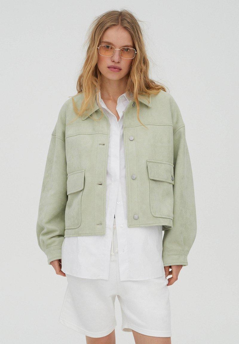 PULL&BEAR - Light jacket - light green
