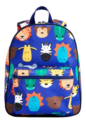 BRIGHT ANIMAL PRINT BAG - Rucksack - blue