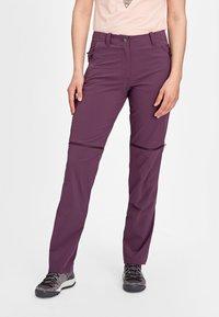 Mammut - RUNBOLD ZIP OFF WOMEN - Outdoor trousers - blackberry - 0