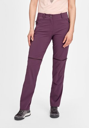 RUNBOLD ZIP OFF WOMEN - Outdoor trousers - blackberry