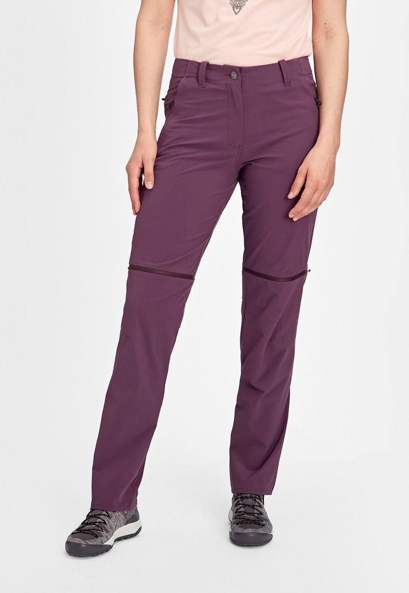 Mammut - RUNBOLD ZIP OFF WOMEN - Outdoor trousers - blackberry