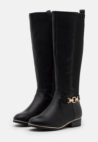 New Look Wide Fit - WIDE FIT AMOUR STRETCH BACK METAL  - Boots - black - 2