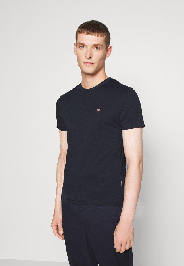 SALIS - Basic T-shirt - blu marine