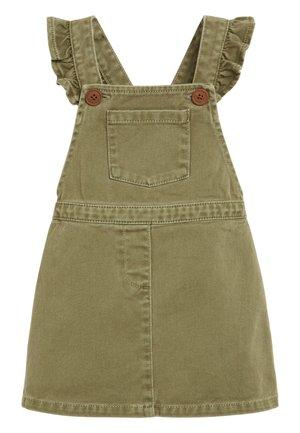 DENIM FRILL PINAFORE (3MTHS-7YRS) - Denim dress - green