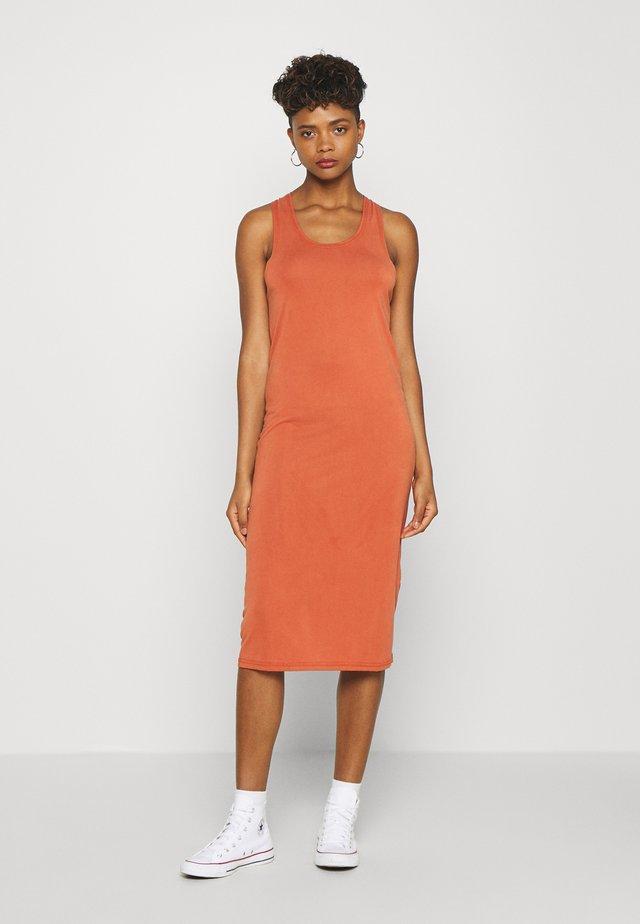 MIJAS DRESS  - Jersey dress - baked clay