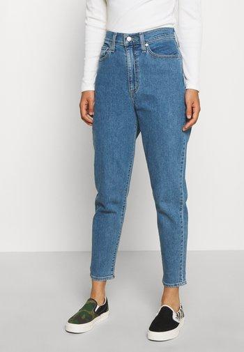 HIGH WAISTED TAPER - Jeans Straight Leg - blue denim