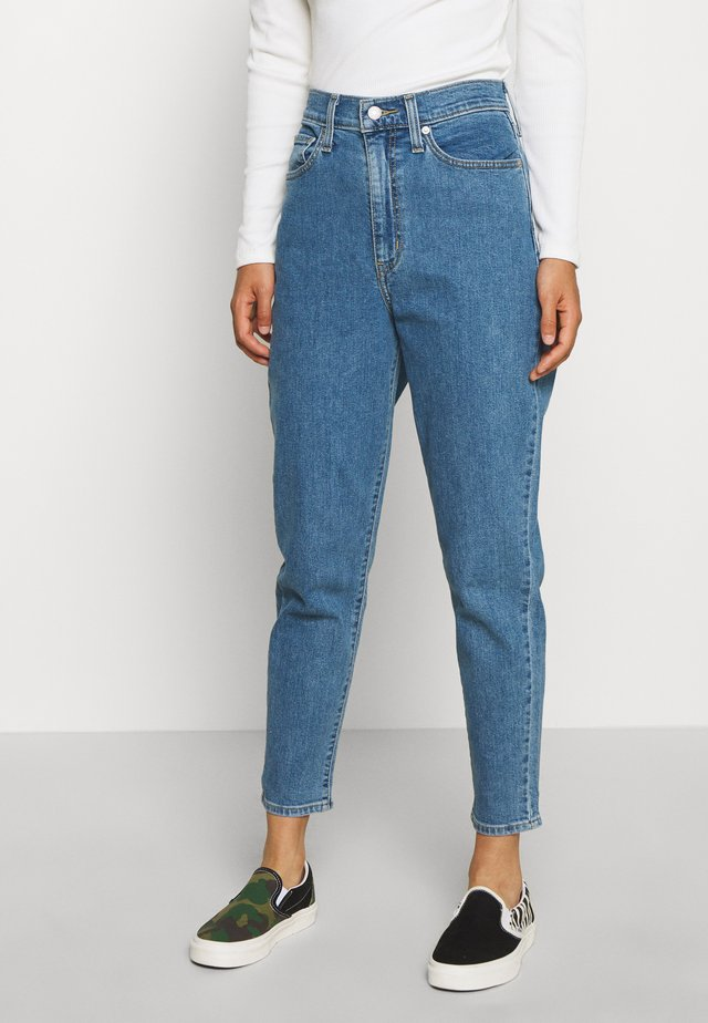 HIGH WAISTED - Jeans Tapered Fit - blue denim