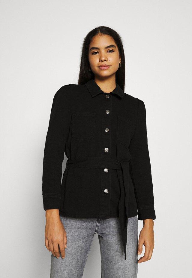 ONLMELROSE JACKET YORK - Denim jacket - black denim/washed denim
