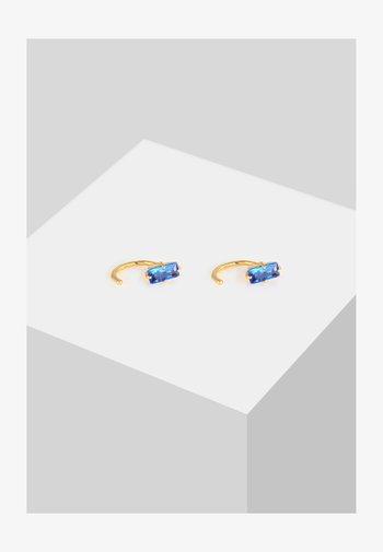 CREOLEN TOPAS - Earrings - blau