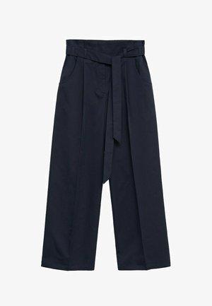 Trousers - azul marino oscuro